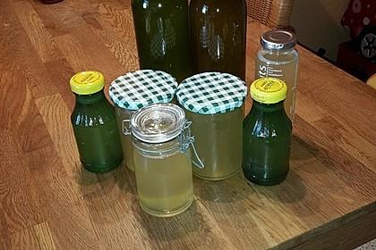 Zitronen - Sirup mit Pfefferminze und Zitronenmelisse 5