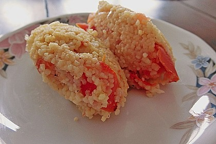 Forelle mit Tomaten - Couscous