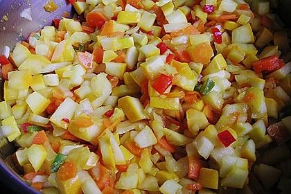 Zucchini - Möhren Chutney 6