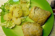 Schweinefilet in Schinkenmantel mit Spinat - Pilz - Mozarellafüllung in Blätterteig