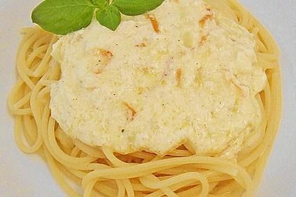 Vegetarische Spaghetti nach Art Carbonara 1