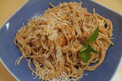 Vegetarische Spaghetti nach Art Carbonara