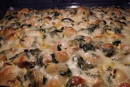 Gnocchi-Spinat-Auflauf mit Hähnchen und Curry 14