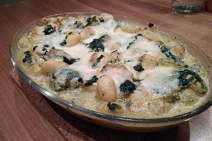 Gnocchi - Spinat - Auflauf mit Hähnchen und Curry 6