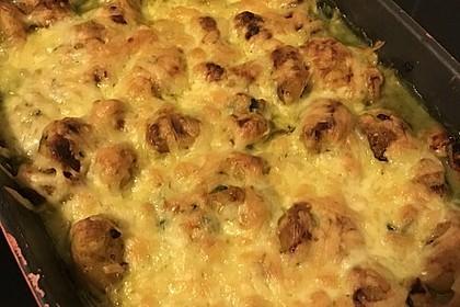 Gnocchi - Spinat - Auflauf mit Hähnchen und Curry 16