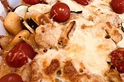 Gnocchi-Spinat-Auflauf mit Hähnchen und Curry 7