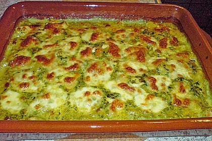 Gnocchi-Spinat-Auflauf mit Hähnchen und Curry 13