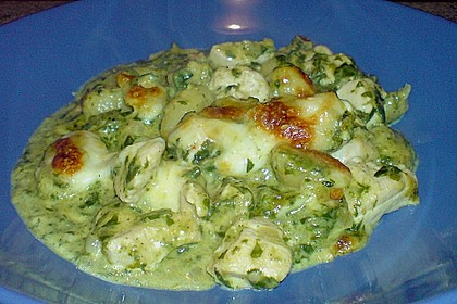 Gnocchi - Spinat - Auflauf mit Hähnchen und Curry 12
