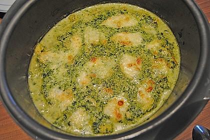 Gnocchi - Spinat - Auflauf mit Hähnchen und Curry 8