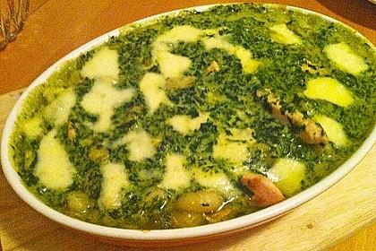 Gnocchi - Spinat - Auflauf mit Hähnchen und Curry 13