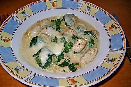 Gnocchi - Spinat - Auflauf mit Hähnchen und Curry 5