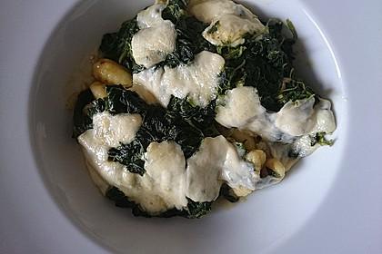 Gnocchi - Spinat - Auflauf mit Hähnchen und Curry 7