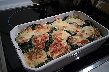 Gnocchi-Spinat-Auflauf mit Hähnchen und Curry 2