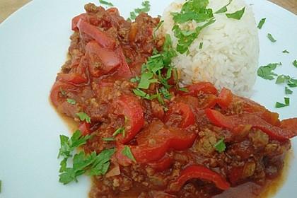 Paprika - Reis - Hackfleisch - Topf