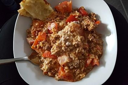 Paprika - Reis - Hackfleisch - Topf 9