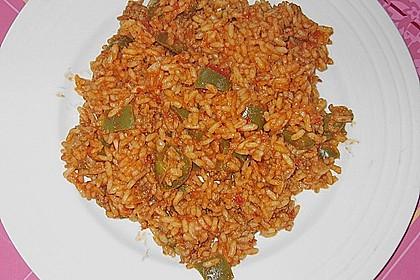 Paprika - Reis - Hackfleisch - Topf 4