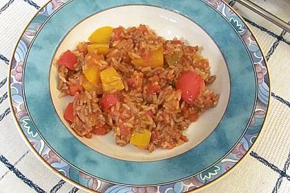 Paprika - Reis - Hackfleisch - Topf 1