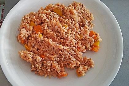 Paprika - Reis - Hackfleisch - Topf 6