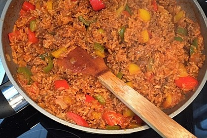 Paprika - Reis - Hackfleisch - Topf 7