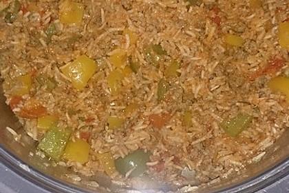 Paprika - Reis - Hackfleisch - Topf 8