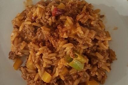 Paprika - Reis - Hackfleisch - Topf 5