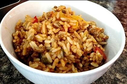 Paprika - Reis - Hackfleisch - Topf 3