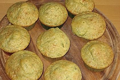 Zucchini Muffins mit saurer Sahne 31