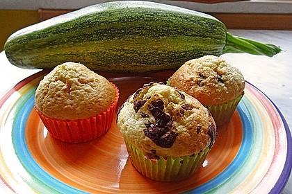 Zucchini Muffins mit saurer Sahne 26