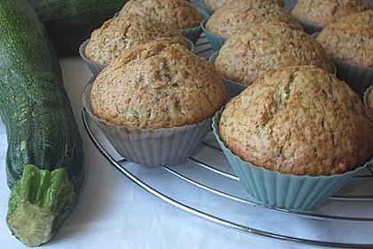 Zucchini Muffins mit saurer Sahne 25