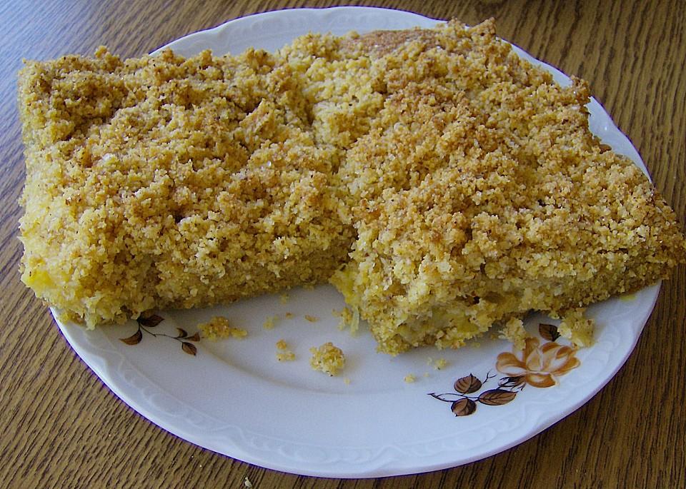 Ananas kuchen mit streusel