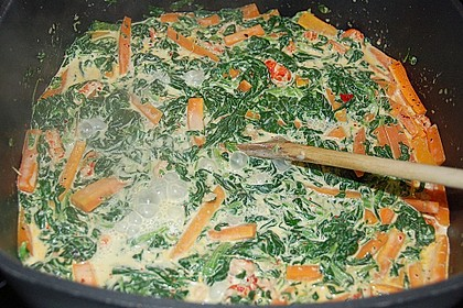 Scharfe Spinat - Tagliatelle 2