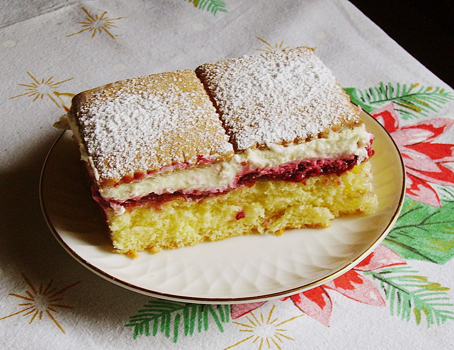 Fredi keks kuchen mit himbeeren
