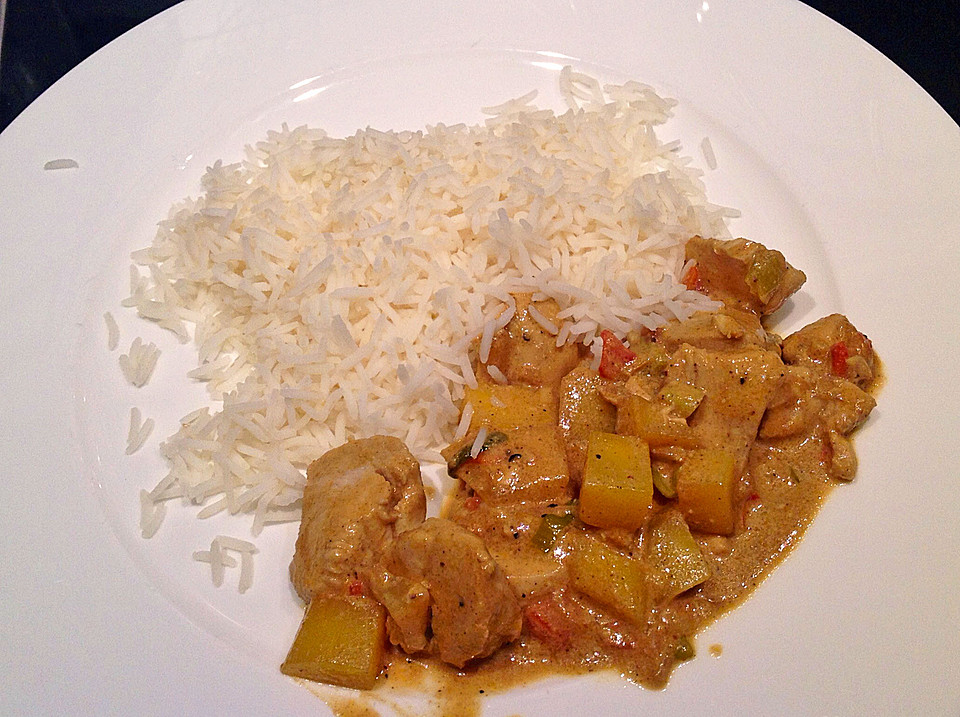 Curried Mango Chicken Recipe — Dishmaps