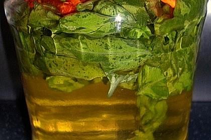 Basilikum - Knoblauch Öl