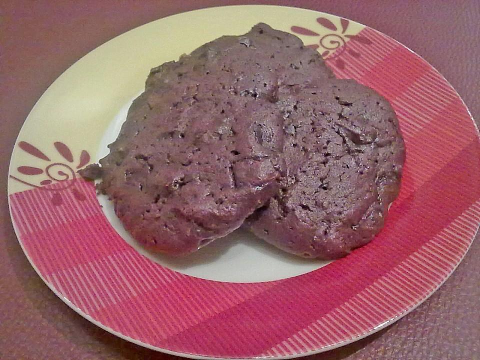chewy chocolate creamcheese cookies rezept mit bild. Black Bedroom Furniture Sets. Home Design Ideas