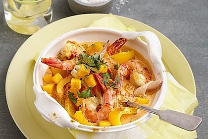 Curry - Garnelen mit Mango