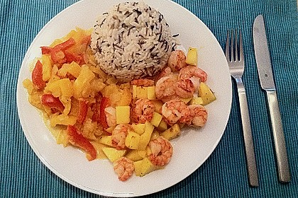 Curry - Garnelen mit Mango 1