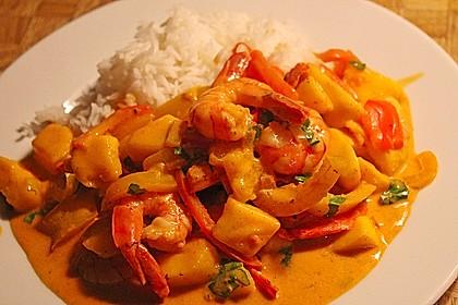 Curry - Garnelen mit Mango 3