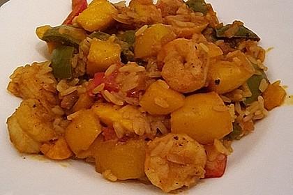 Curry - Garnelen mit Mango 2