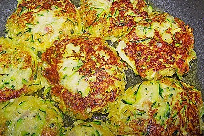 Zucchini-Frikadellen 3