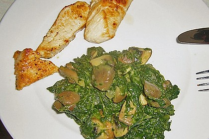 Champignon - Spinat - Pfanne 10