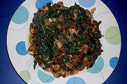 Champignon - Spinat - Pfanne 20