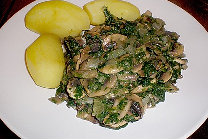 Champignon - Spinat - Pfanne 15