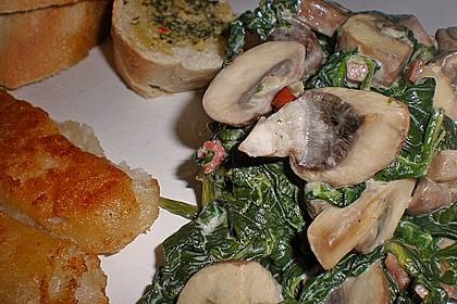 Champignon - Spinat - Pfanne 9