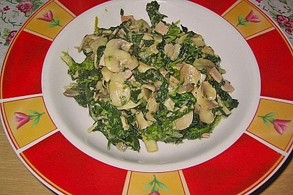 Champignon - Spinat - Pfanne 11