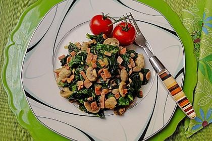 Champignon - Spinat - Pfanne 1