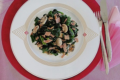 Champignon - Spinat - Pfanne 4