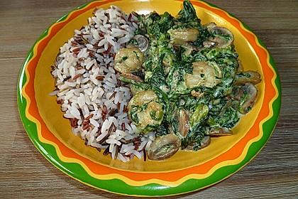 Champignon - Spinat - Pfanne 7