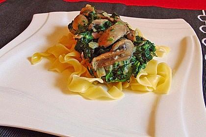 Champignon - Spinat - Pfanne