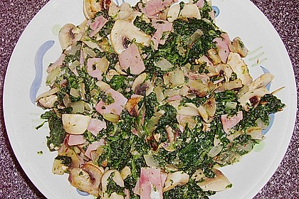 Champignon - Spinat - Pfanne 23